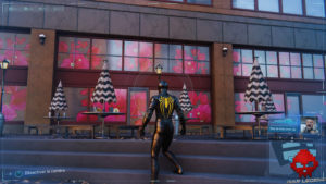 Spider-Man photo secrète café