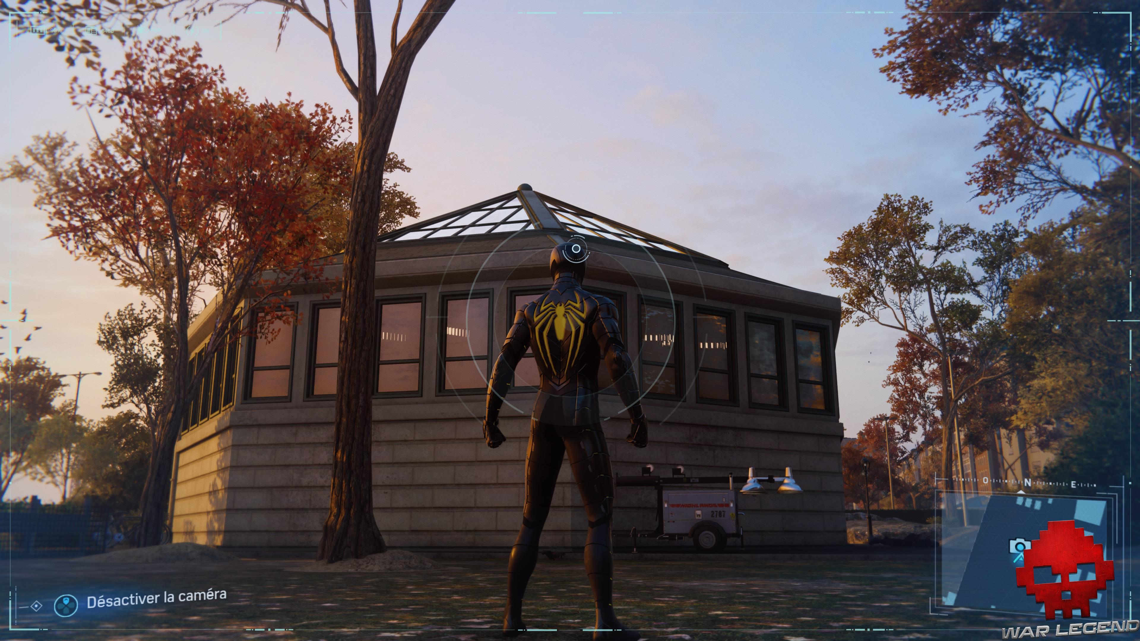 Spider-Man photo secrète kiosque de jardin