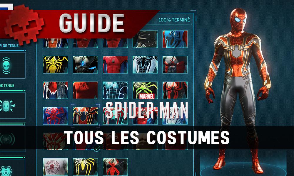 Vignette Guide spider-man tous les costumes