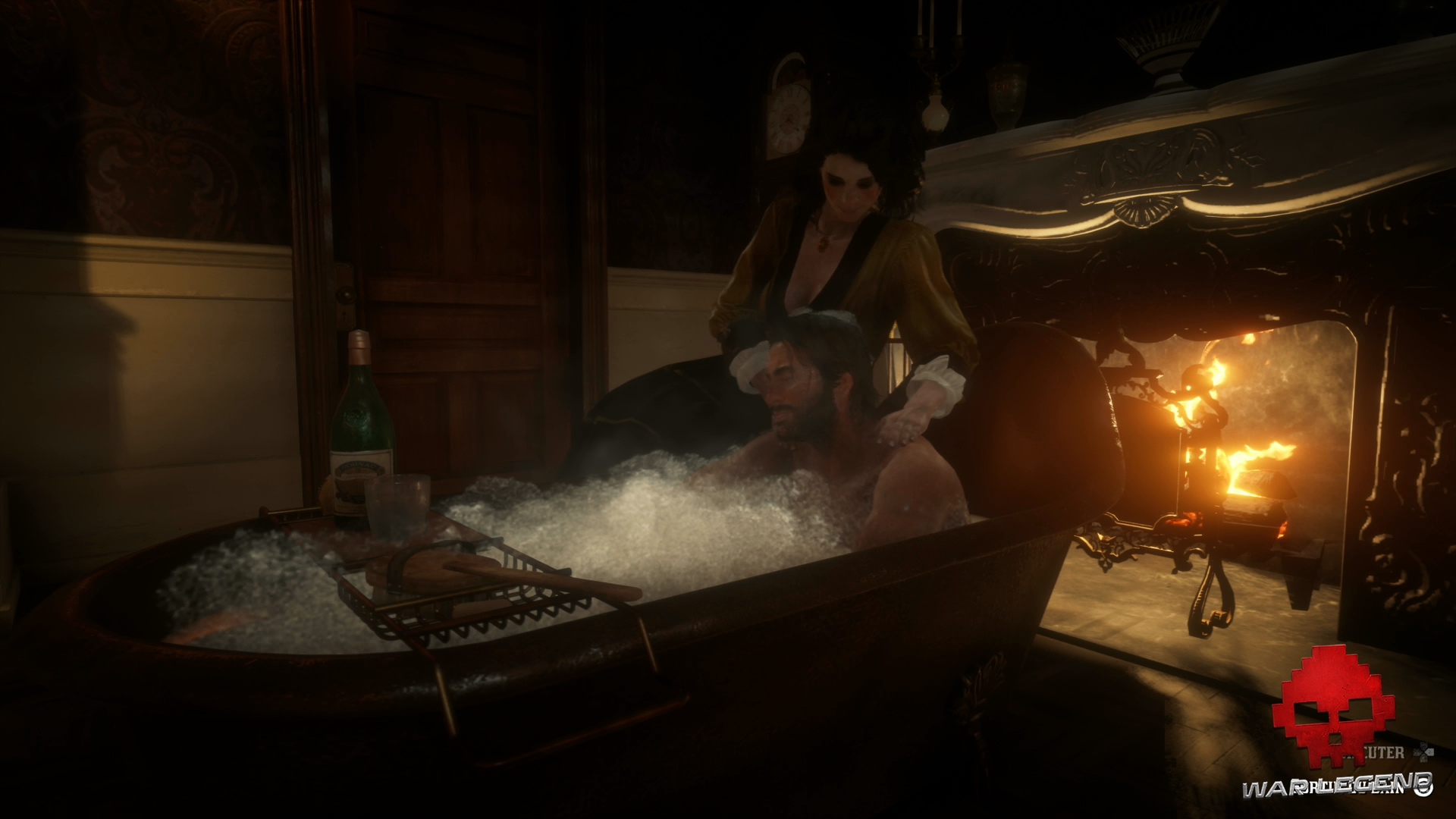 Guide Red Dead Redemption 2 L'hygiène Une femme aide Arthur à se laver