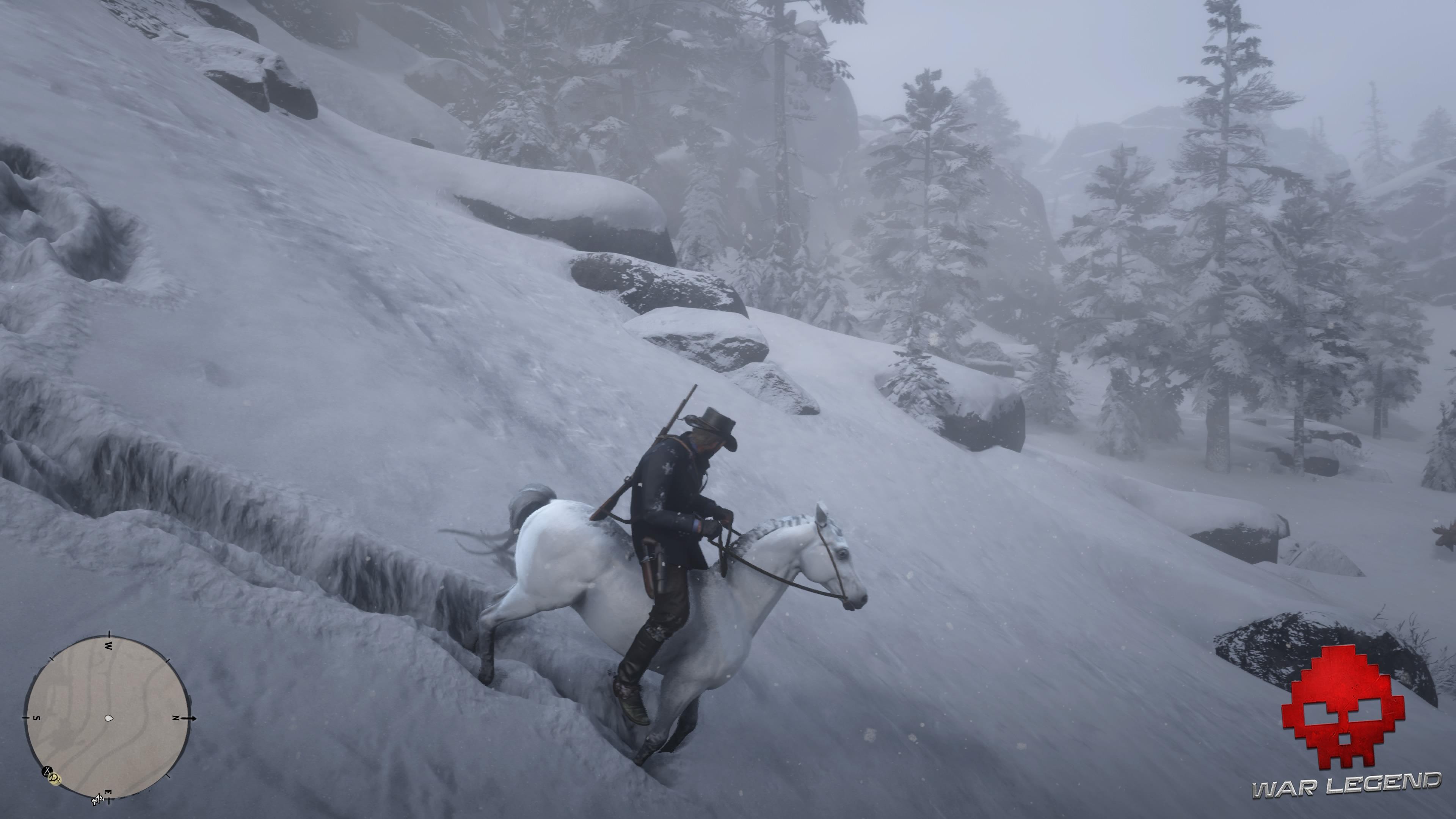 Guide Red Dead Redemption 2 Trouver et dompter le Pur sang arabe blanc Arthur a réussi à débourrer le Pur sang arabe blanc