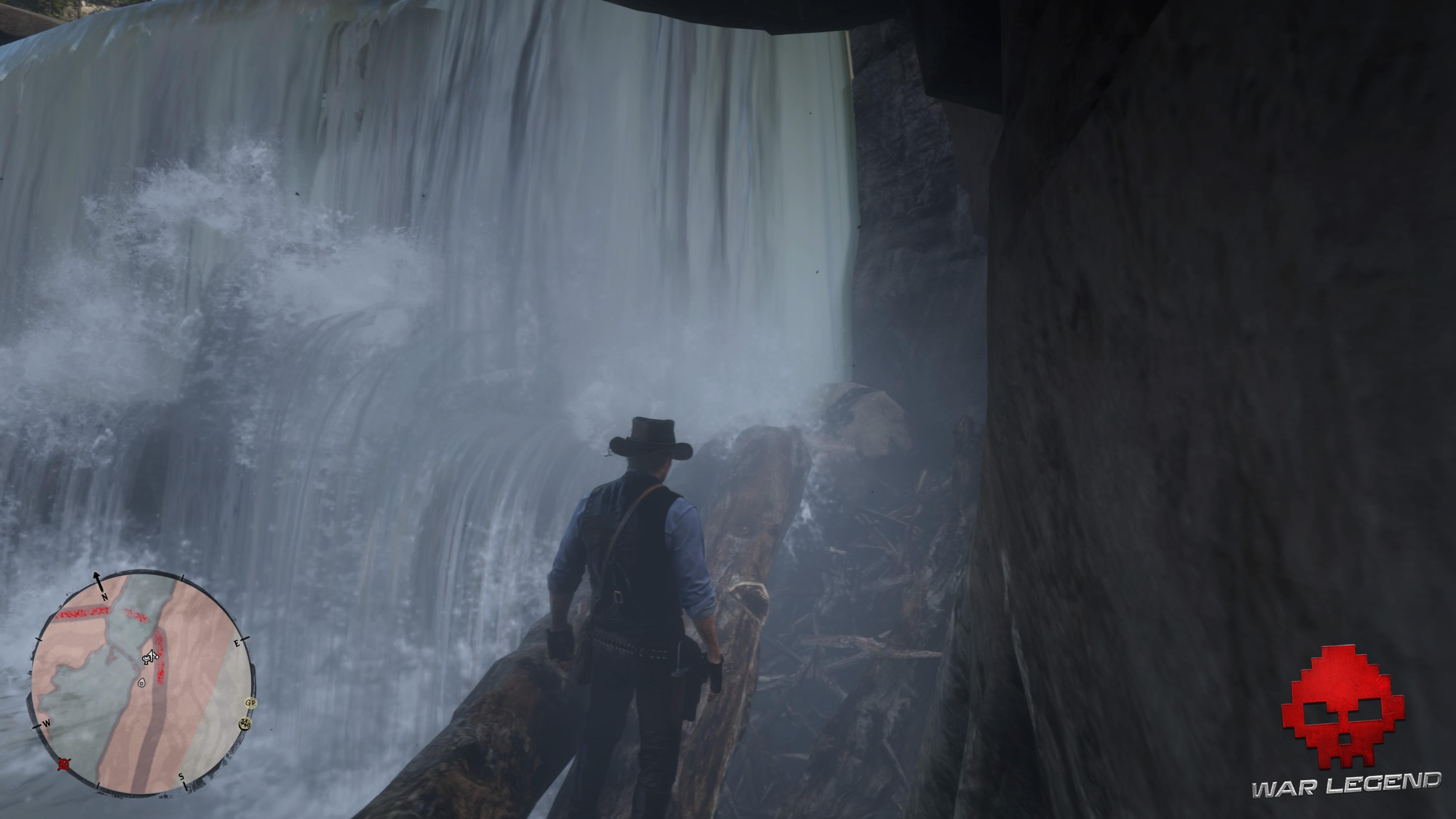 Soluce Red Dead Redemption 2 Le trésor à gros enjeux Arthur monte sur des rondins de bois