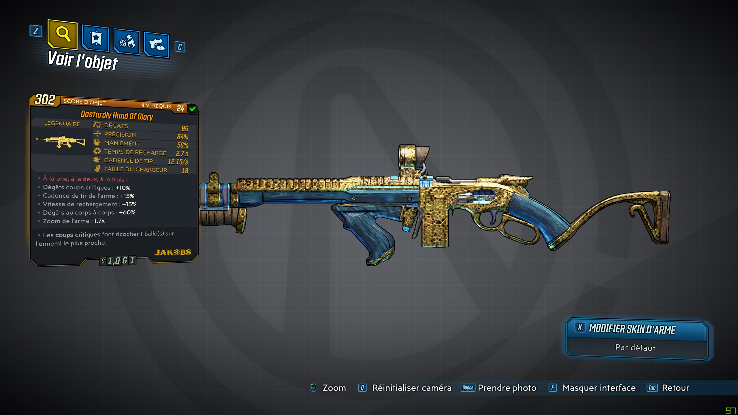 Guide borderlands 3 légendaire hand of glory