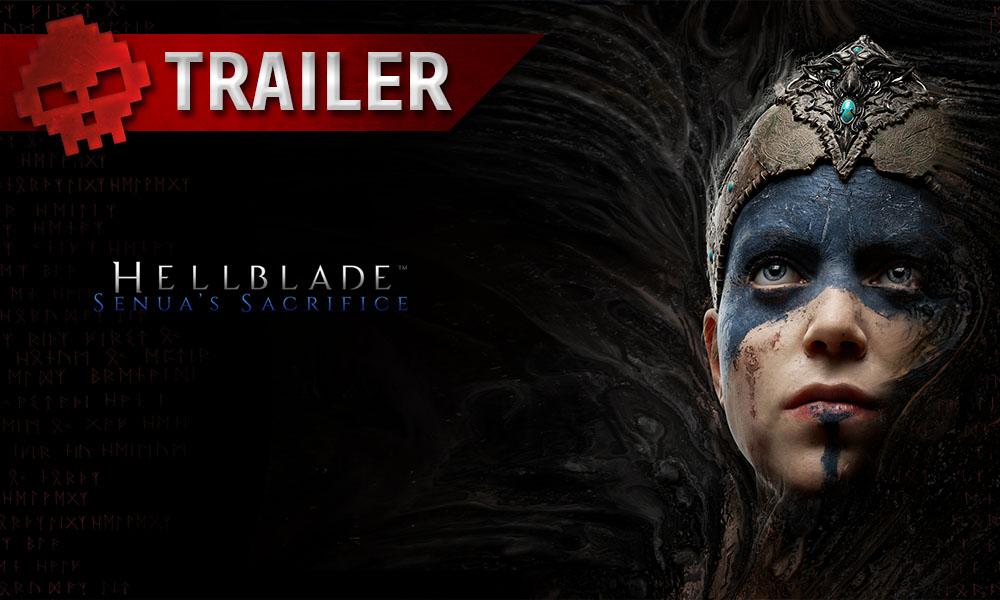Hellblade: Senua's Sacrifice - Un trailer vous plonge dans les pires cauchemars de Senua - Logo + Senua