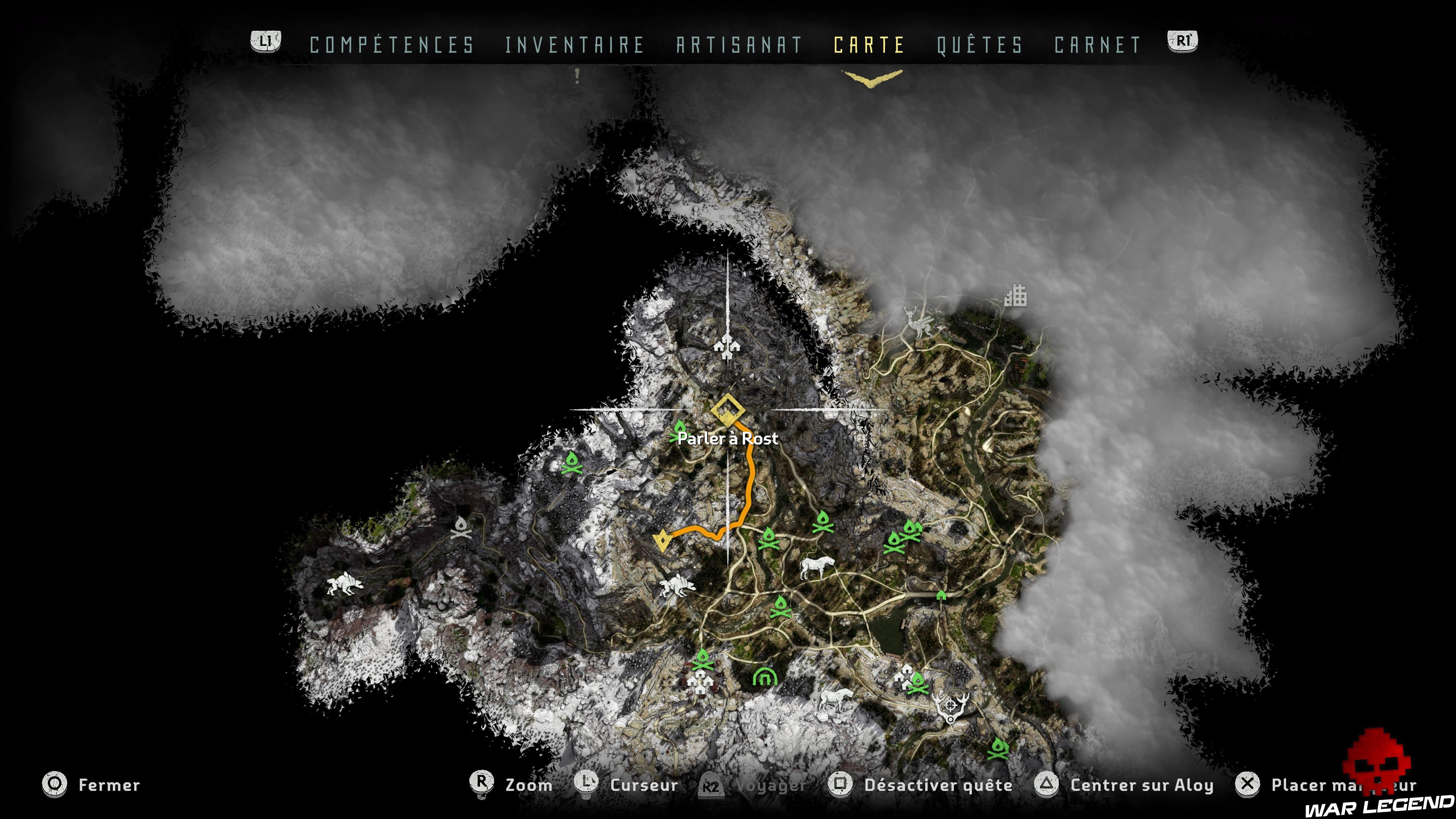 Soluce Horizon Zero Dawn - Le cœur de la mère carte