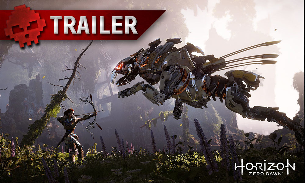 Horizon Zero Dawn - Partez à l'exploration dans ce nouveau trailer Nora prête à tirer avec son arc sur une créature robotique