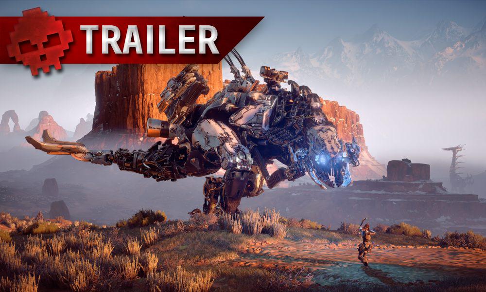 Horizon Zero Dawn - Le trailer de lancement nous montre Aloy dans toute sa splendeur Robot géant face à Aloy