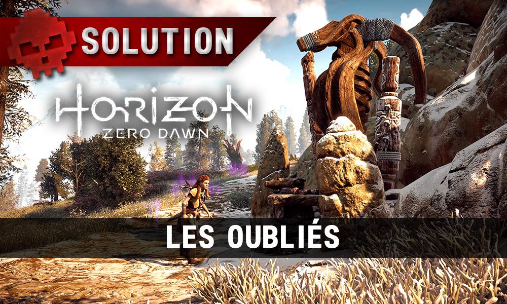 Solution de Horizon: Zero Dawn - Les oubliés