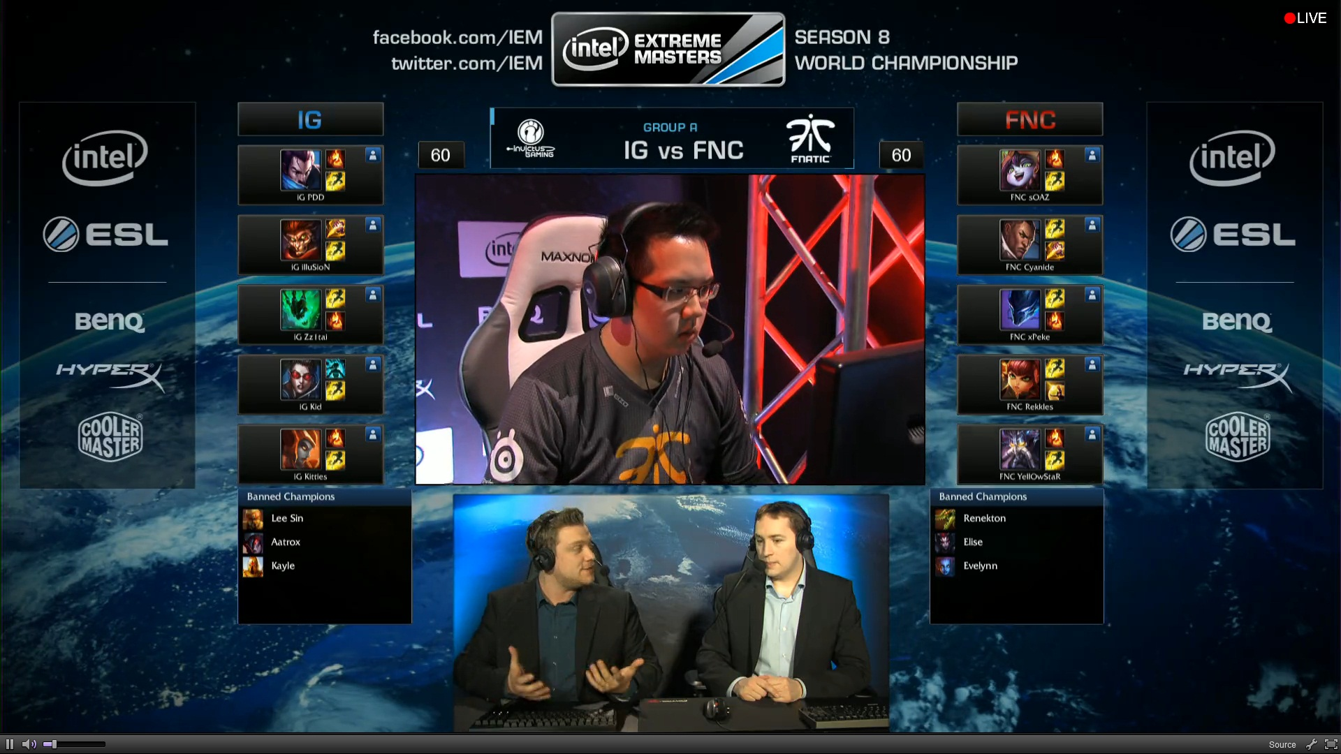 IG vs Fnatic GROUPE A