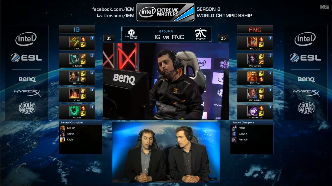 IG vs Fnatic LOOSER BRACKET