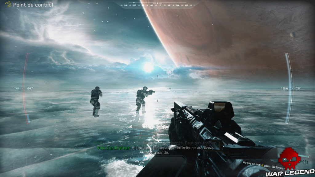 Test Call of Duty: Infinite Warfare planète glaciaire