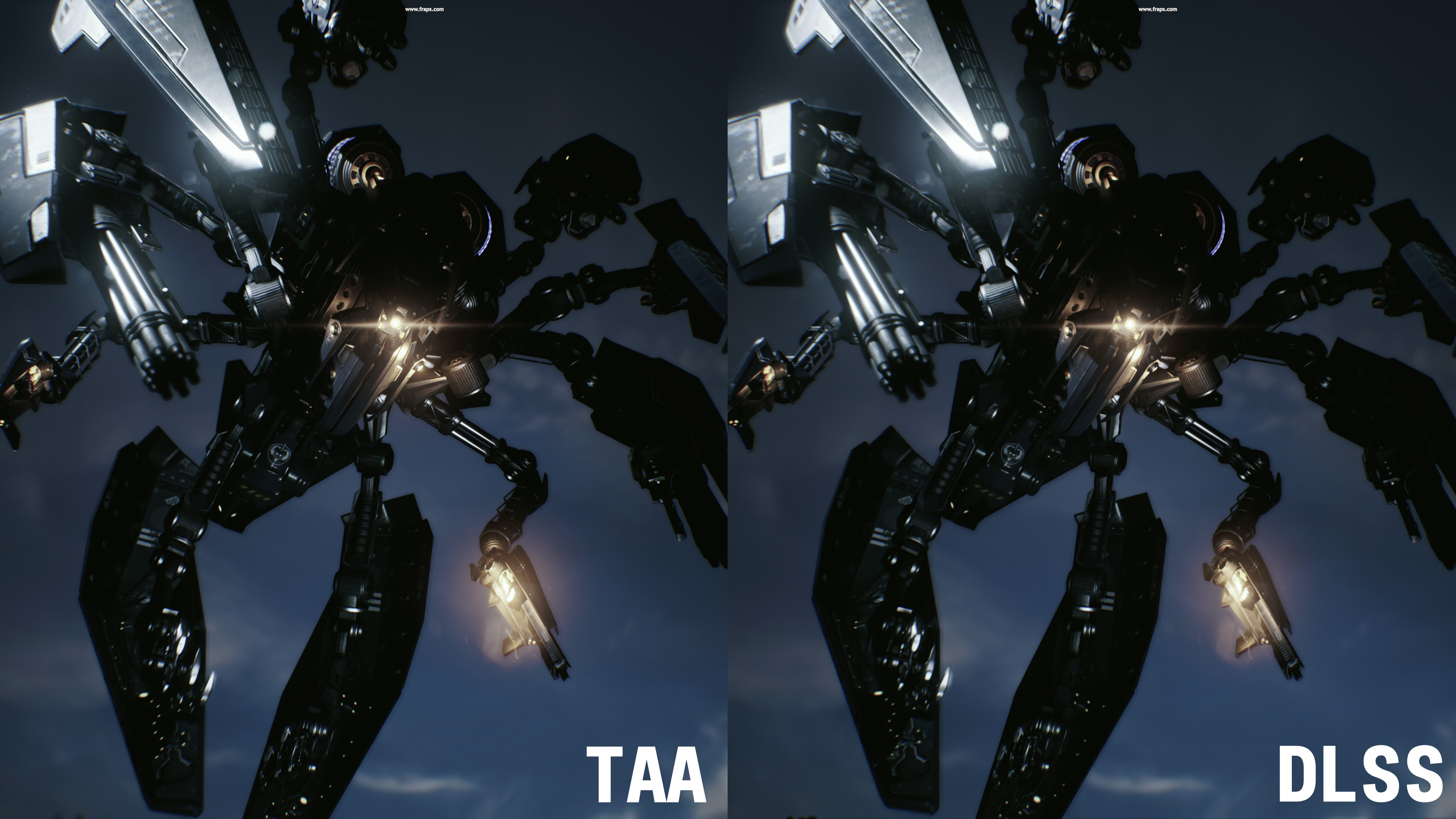 Test GeForce RTX 2080 Ti - Infiltrator TAA vs DLSS