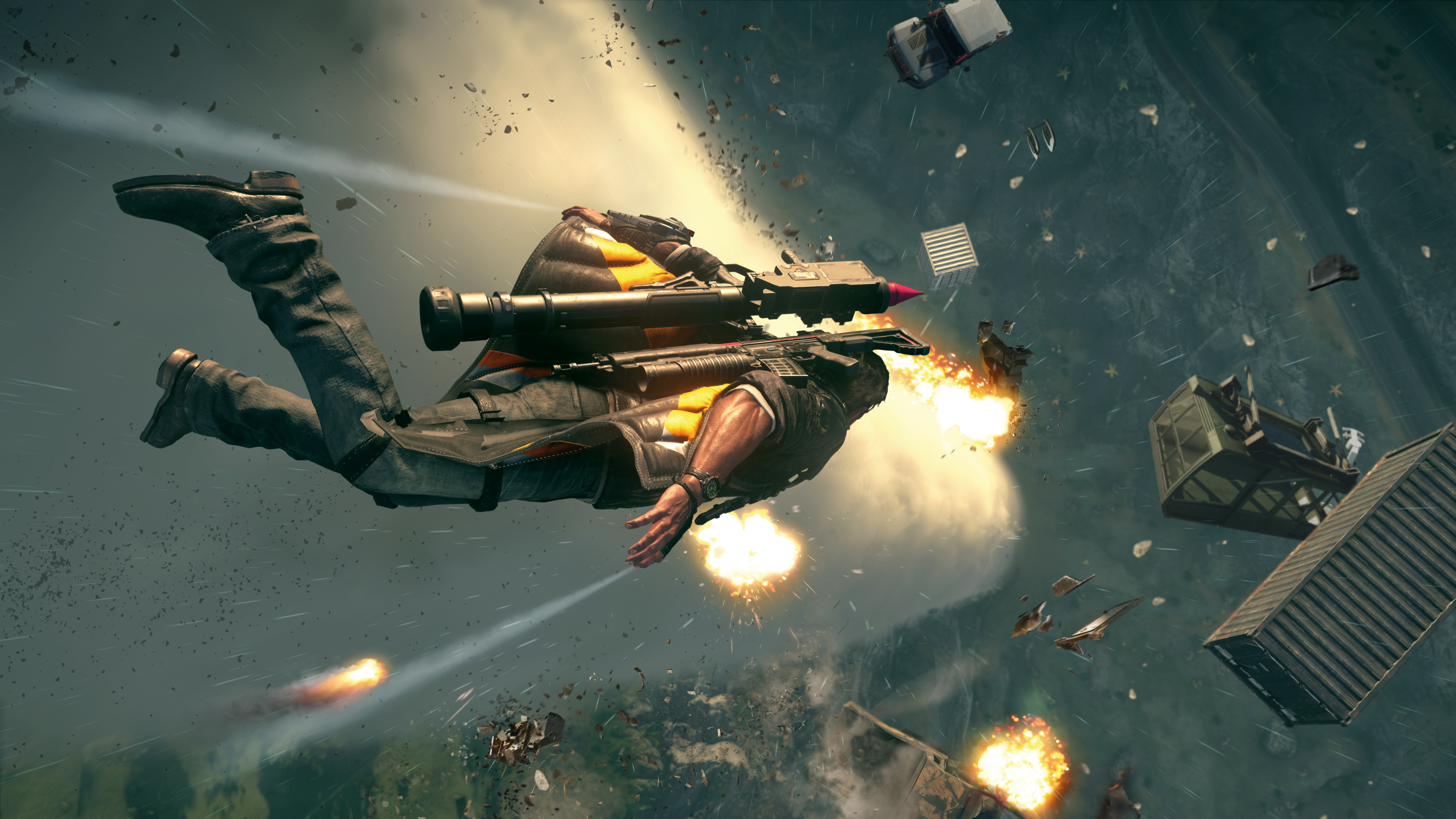 Aperçu Just Cause 4 Rico Rodriguez tombe le long d'une tornade