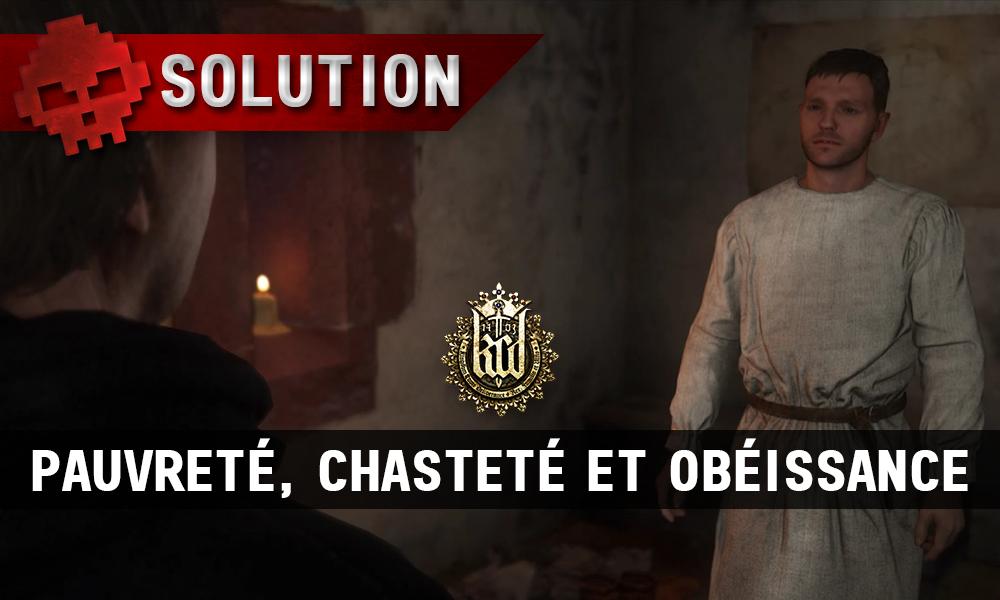 KCD Pauvreté Chasteté et obéissance vignette