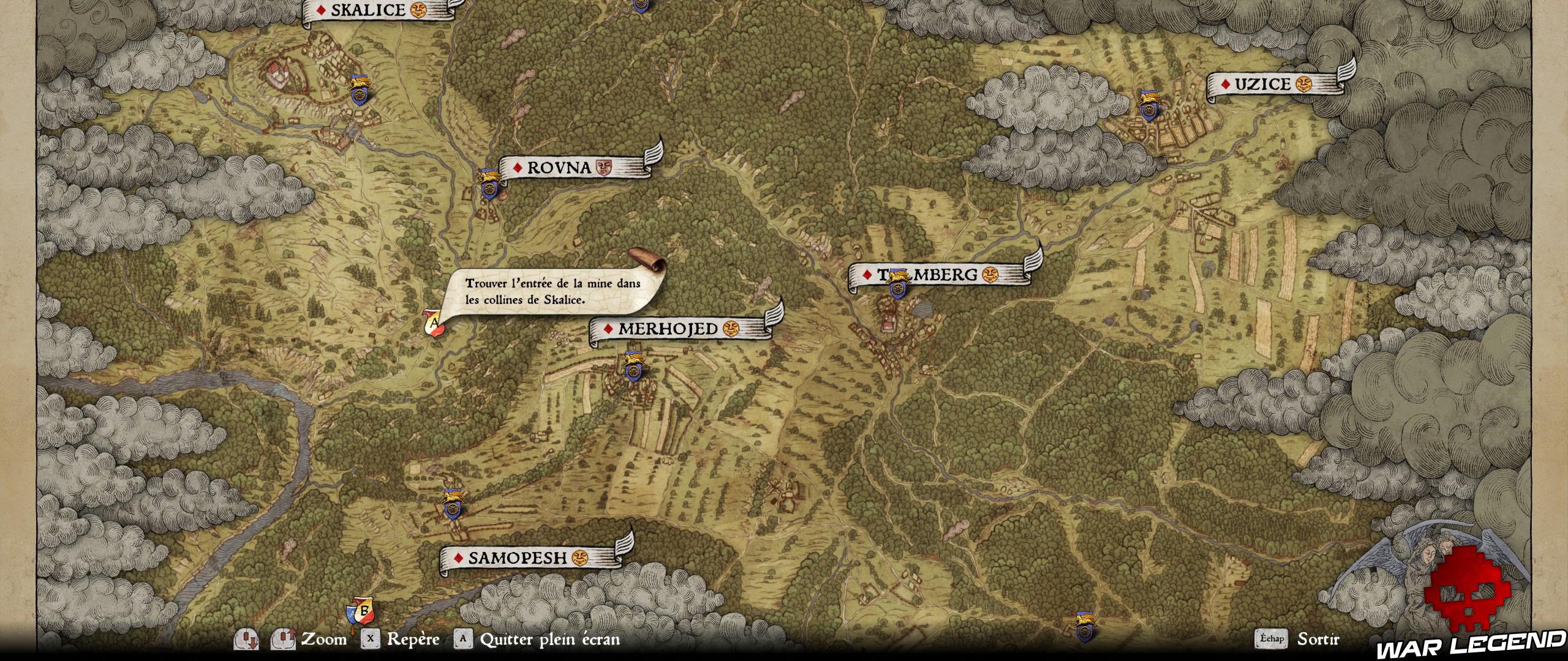 KCD Soluce Tout ce qui brille carte mines de skalice