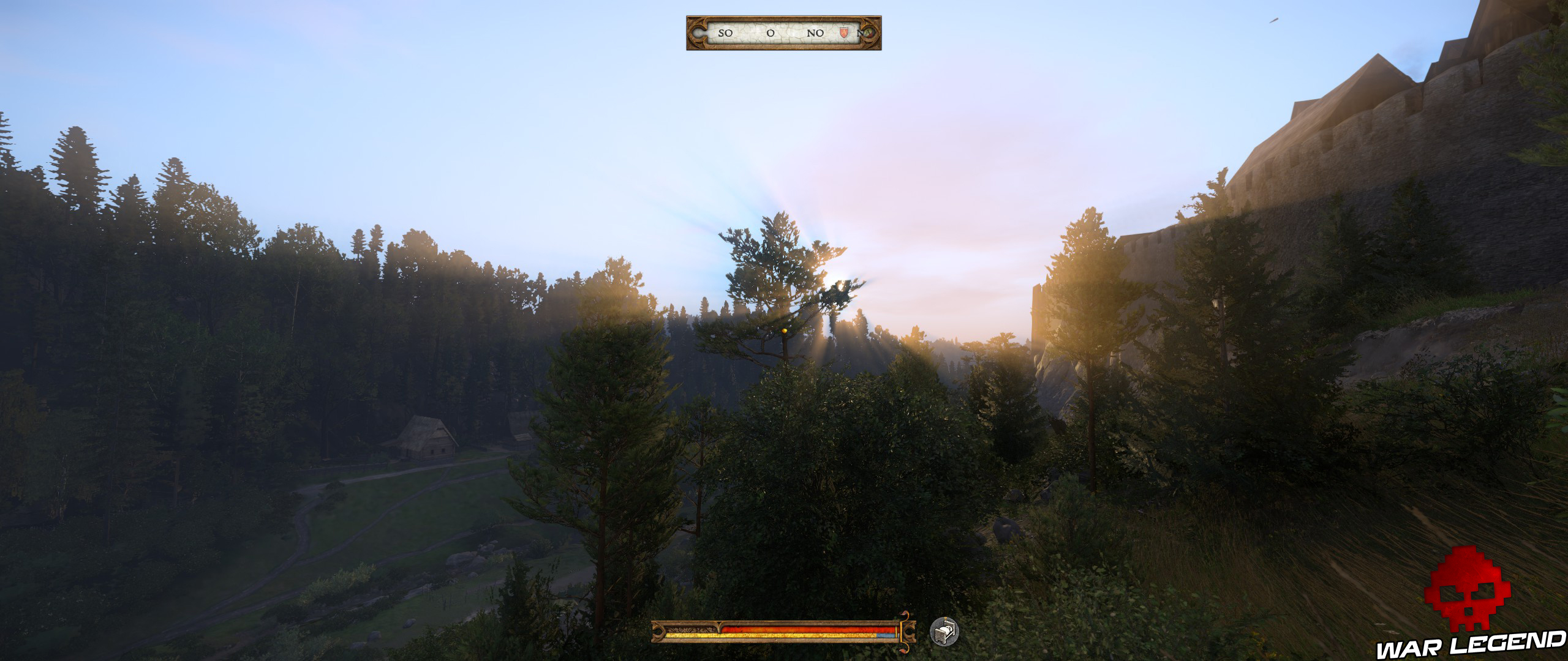 Kingdome Come Deliverance coucher de soleil