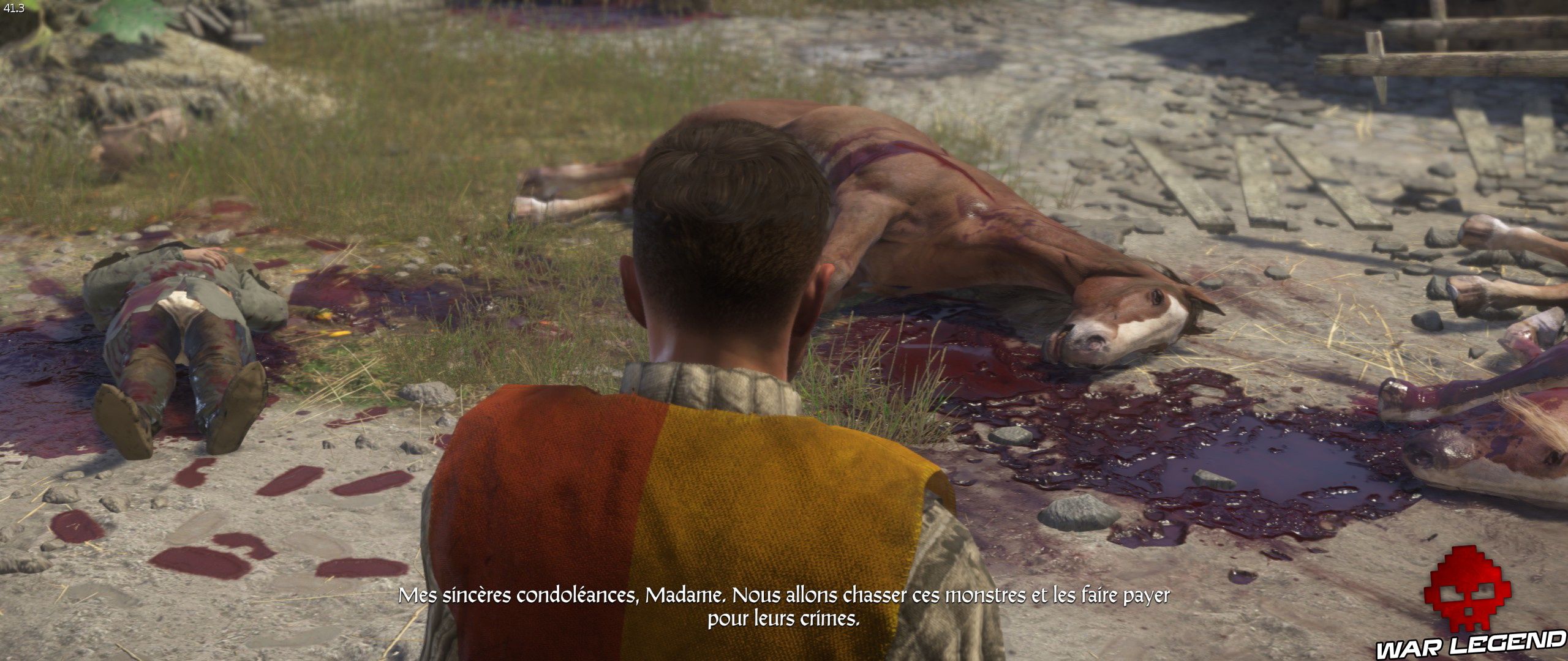Kingdome Come Deliverance cheval mort et sang
