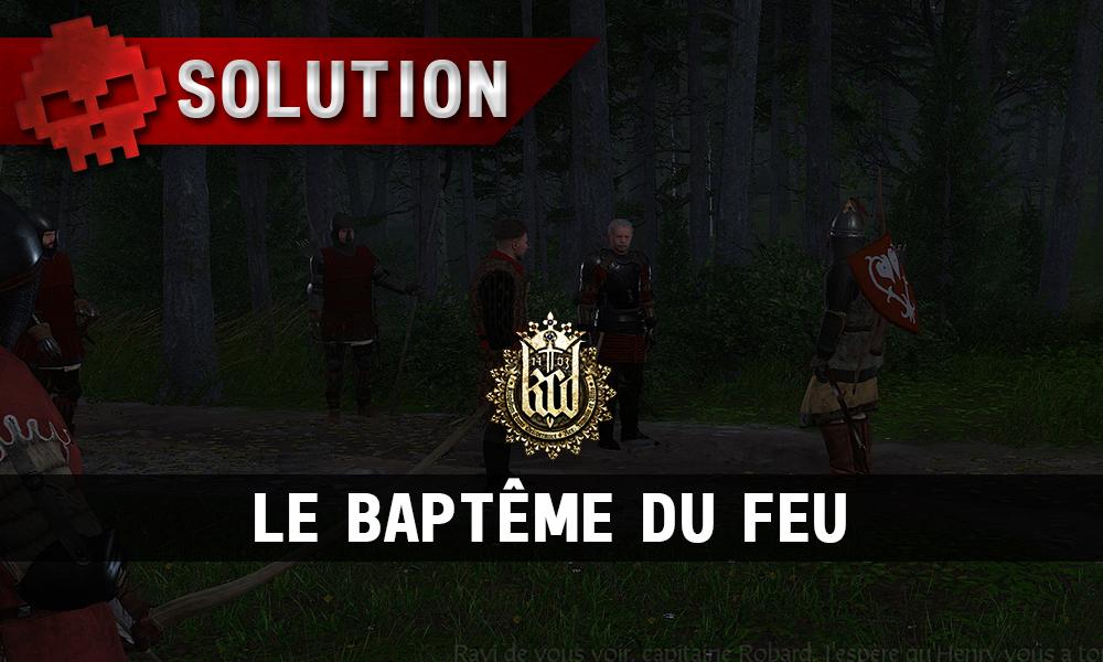 Kingdome Come Deliverance le baptême du feu vignette discussion henry robard radzig