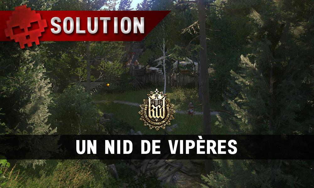 Kingdome Come Deliverance un nid de vipères vignette camp bandit