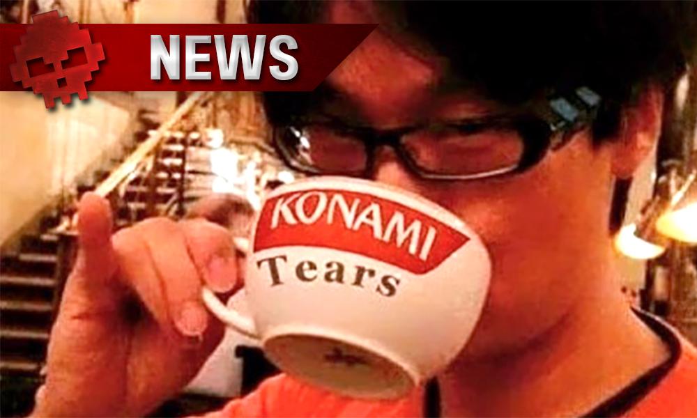 """Kojima Productions débauche les employés et anciens de Konami kojima boit dans une tasse """"Konami Tears"""""""
