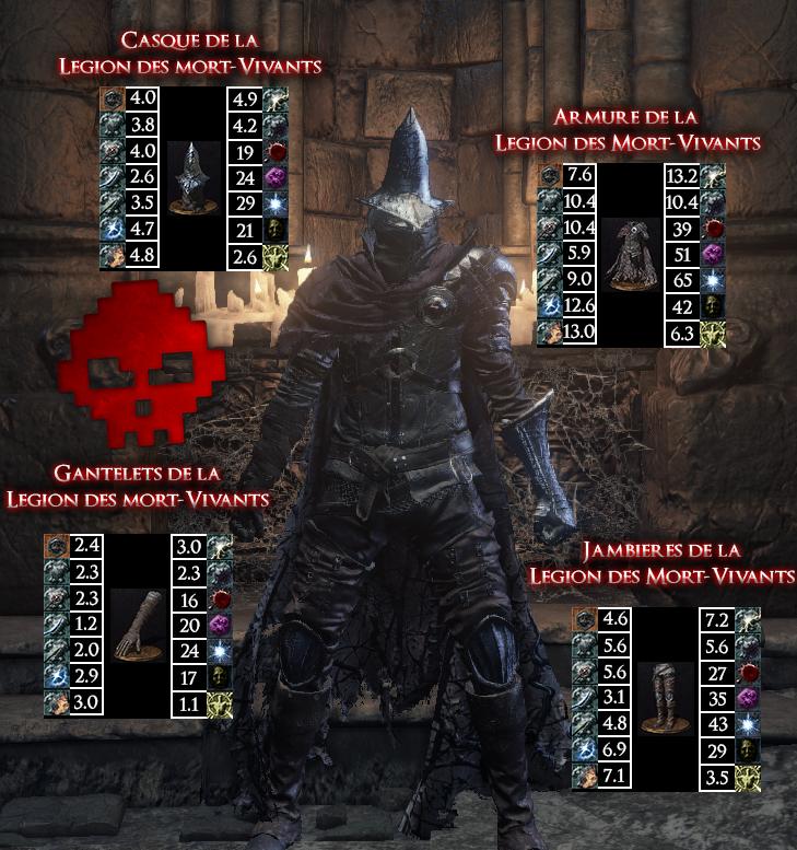 Légion des Mort-Vivants Dark Souls III WAR LEGEND copie