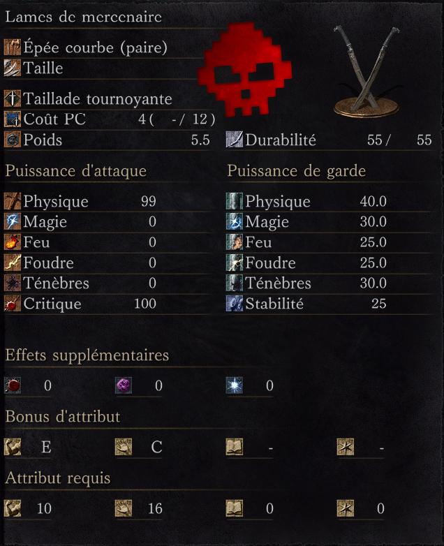 Lames de Mercenaire