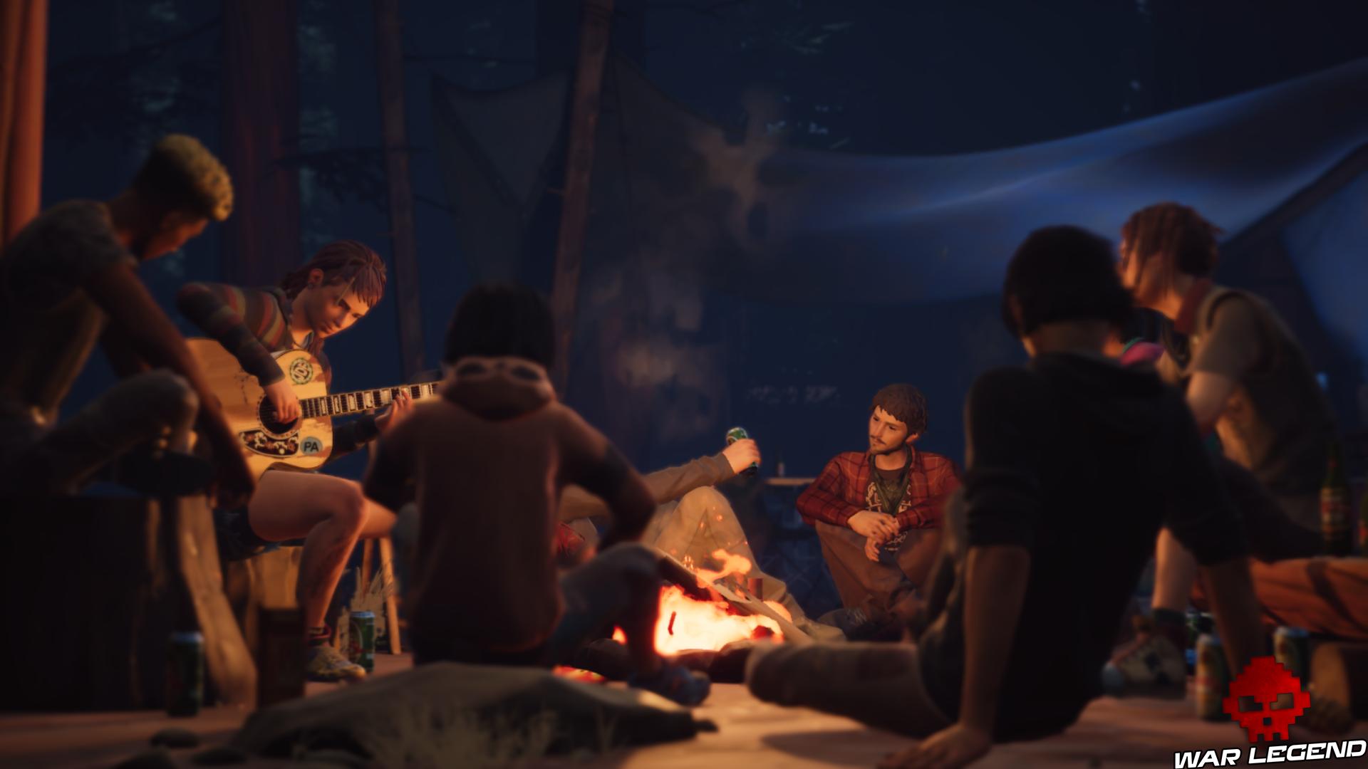 Life Is strange 2 Screenshot groupe autour du feu