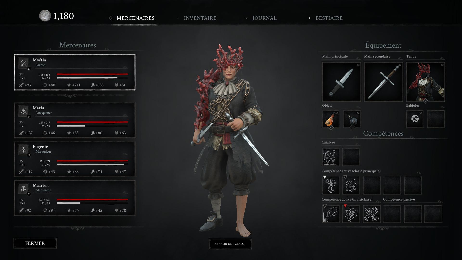 Système de classes et équipements disponibles dans Black Legend.