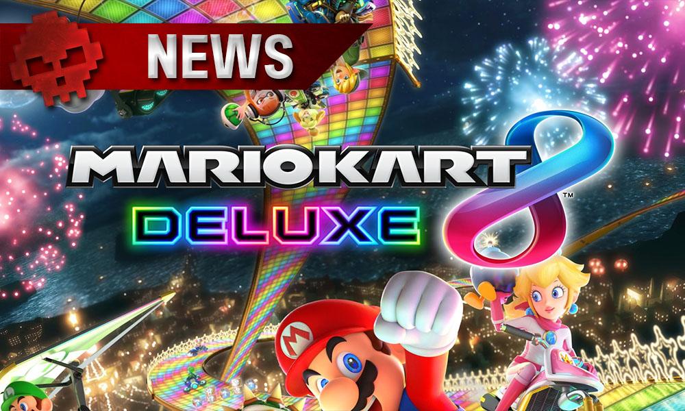 Mario Kart 8 Deluxe - Pas de nouvelle carte au lancement du titre Logo et personnages de l'univers de Mario