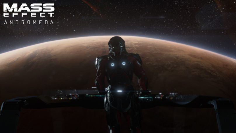 Mass Effect: Andromeda - Les dernières infos sur le jeu Héros devant une planète dans son vaisseau