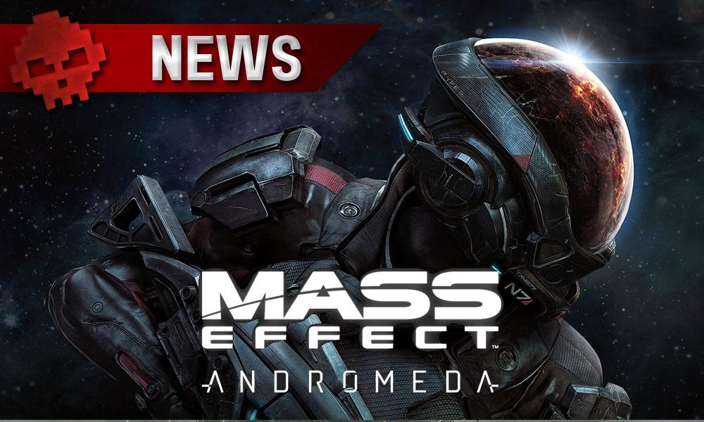 Mass Effect: Andromeda - Son succès mitigé se répercute chez BioWare - Logo et Ryder héros principal en fond