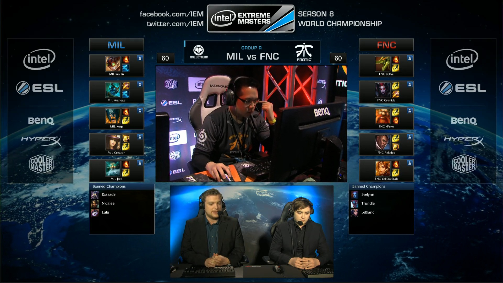 Mil vs Fnatic GROUPE A
