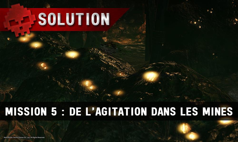 Soluce Nioh - De l'agitation dans les mines d'argent : mission 5 une