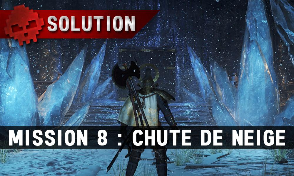 Solution complète de Nioh mission 8 chute de neige