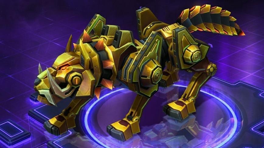 Monture cybernétique en or massif