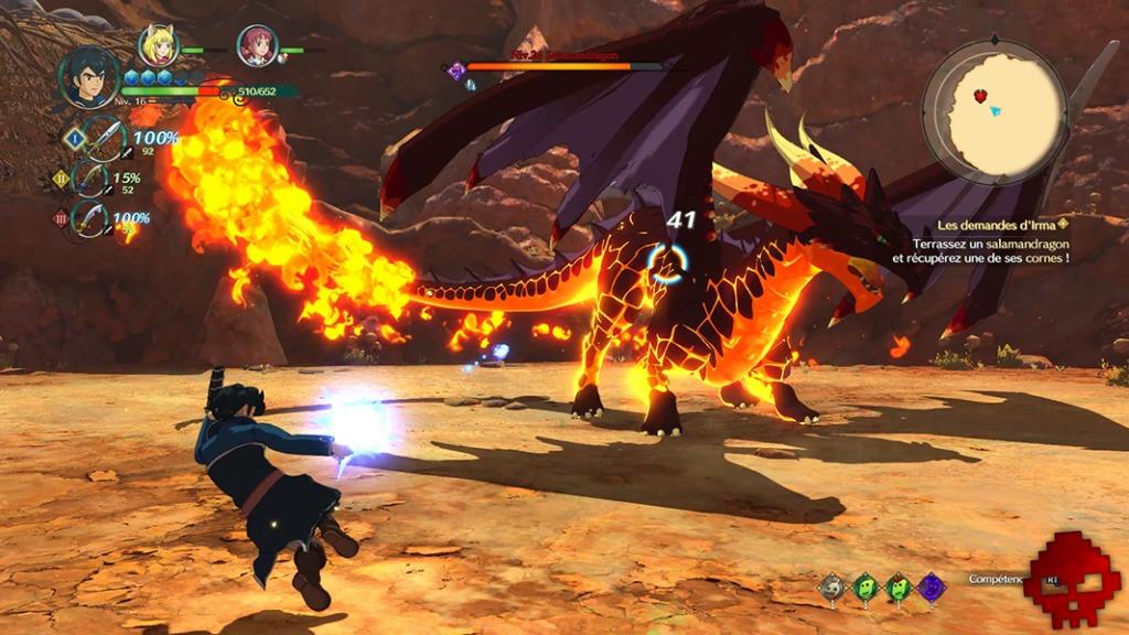 Ni no Kuni II - Combat contre un Salamandragon