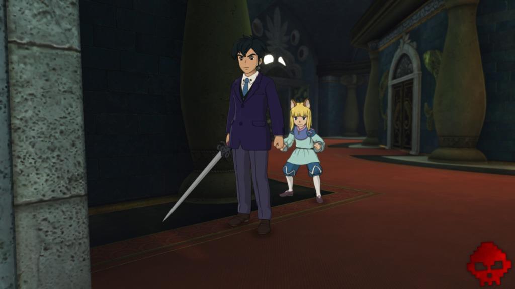 Ni no Kuni II - Roland et Evan s'enfuient du château