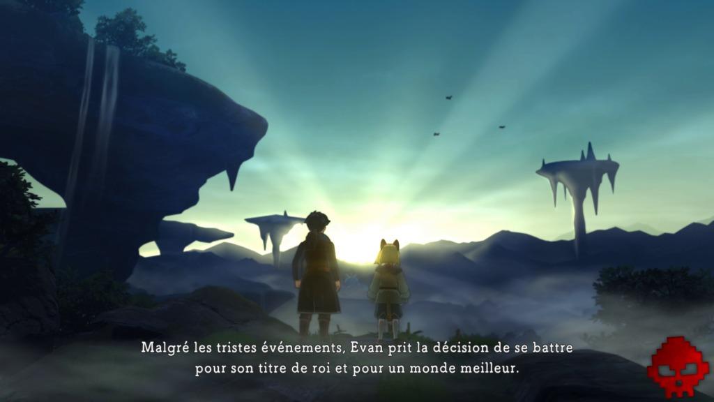 Ni no Kuni II - Evan et Roland face au lever du Soleil