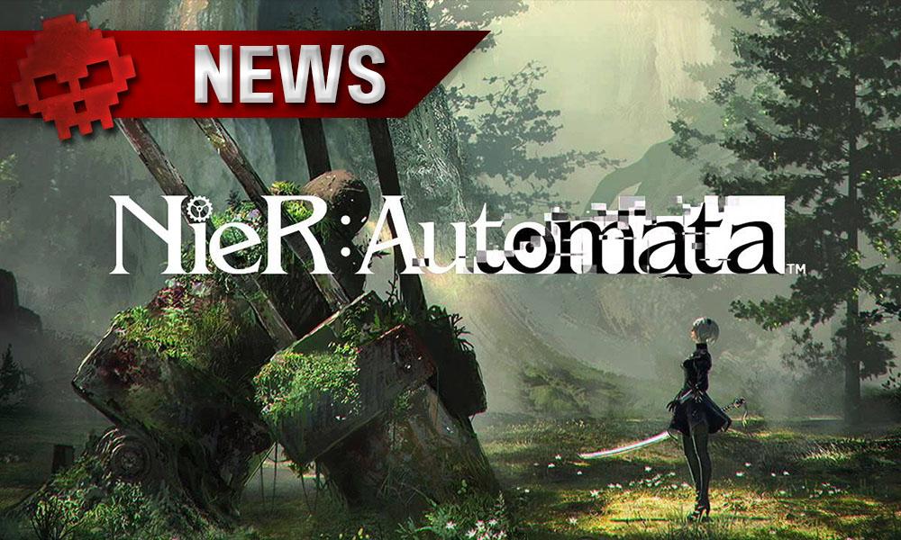 NieR: Automata - Une nouvelle vidéo de gameplay présente les héros en action - Personnage avec une épée devant un robot