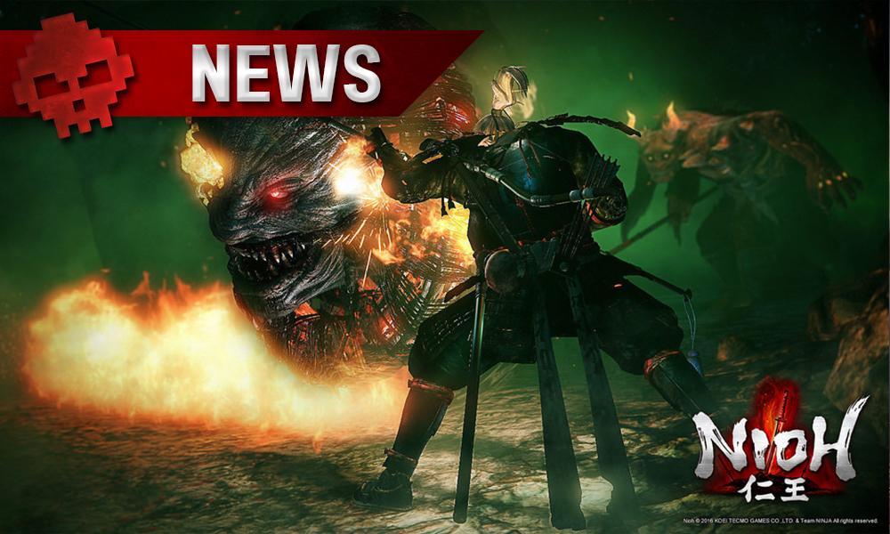 Nioh - Team Ninja en dévoile plus cet après-midi en live samurai face à un monstre