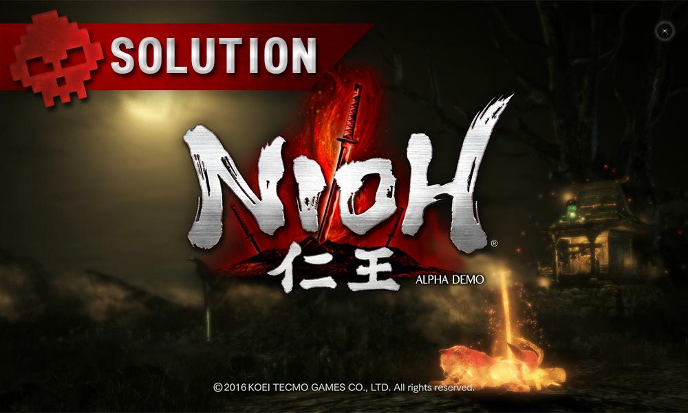Solution complète de Nioh logo du jeu écran d'accueil