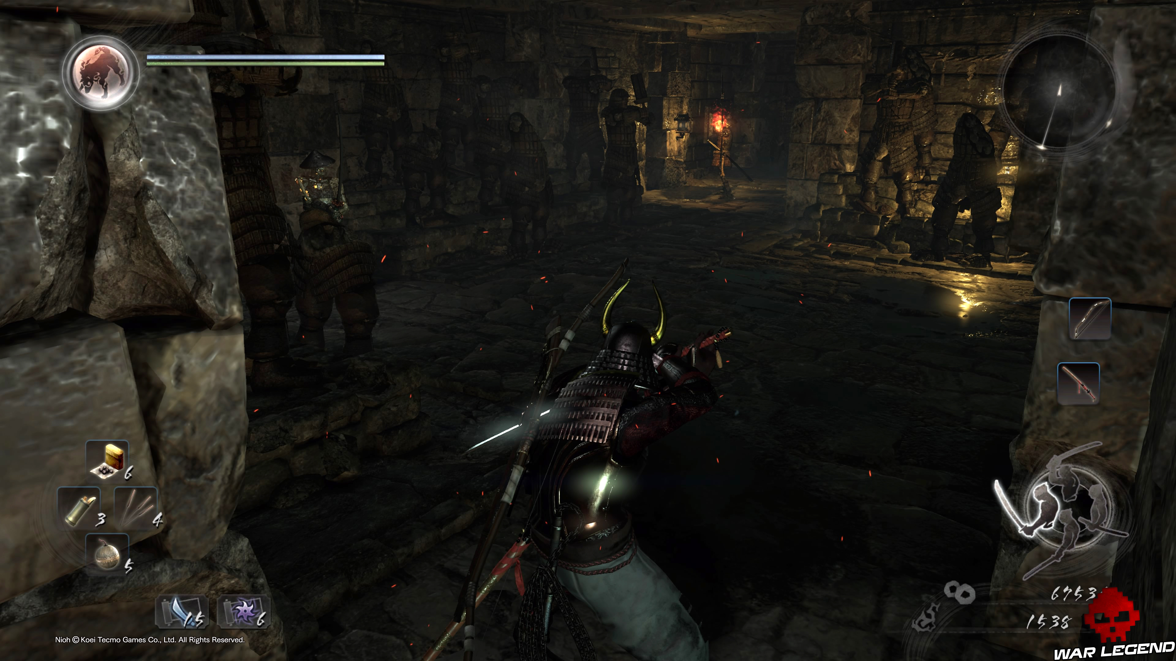 Soluce Nioh - Là où repose la pierre d'esprit guerriers squelettes