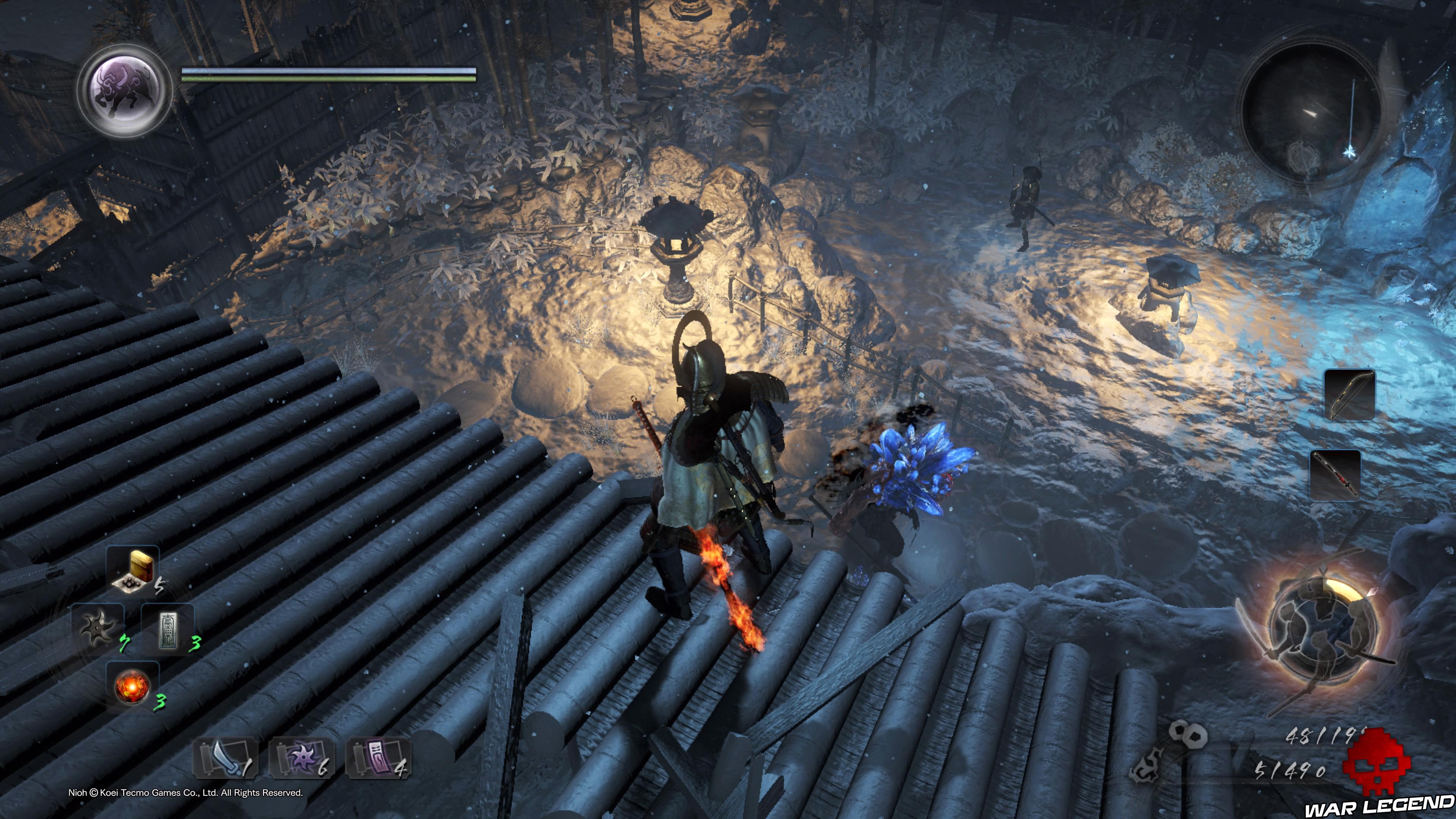 Soluce Nioh - Chute de neige: mission 8 guerrier squelette et Yokai