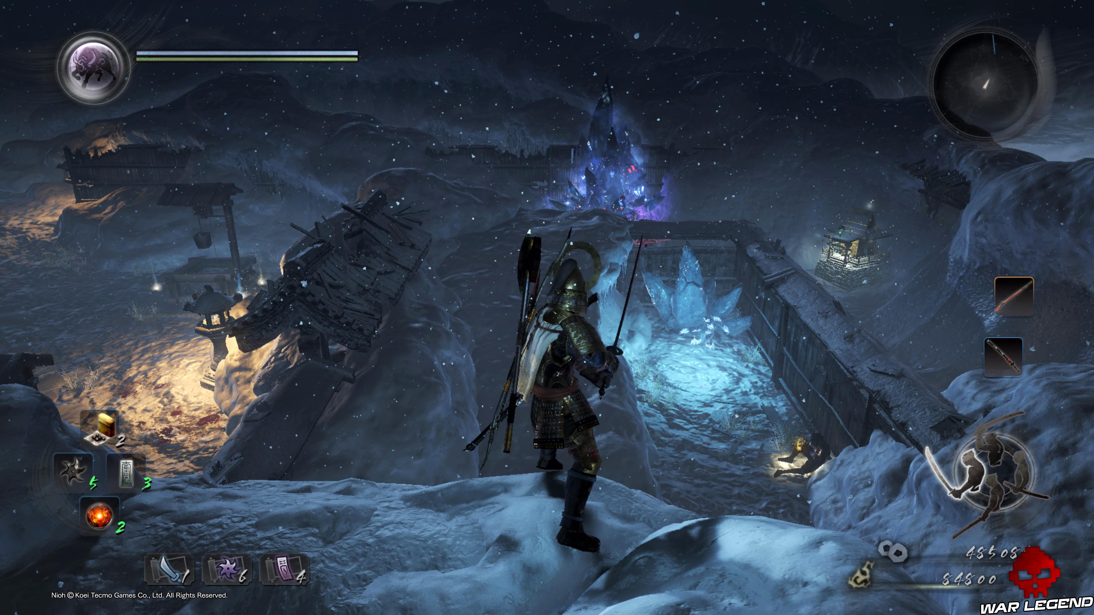 Soluce Nioh - Chute de neige: mission 8 autel et glace