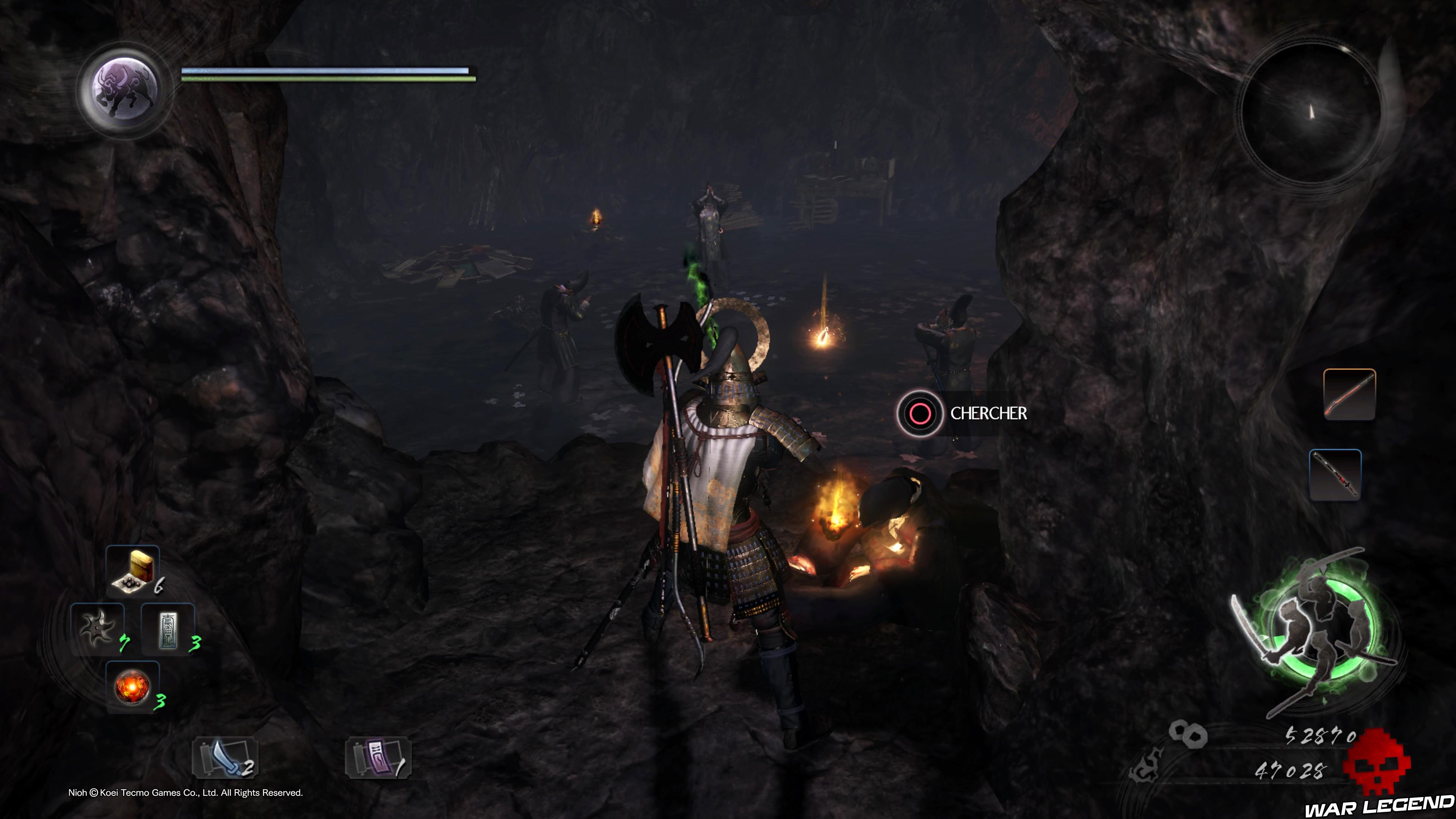Soluce Nioh - Le démon du mont Hiei: mission 9 corps à fouiller