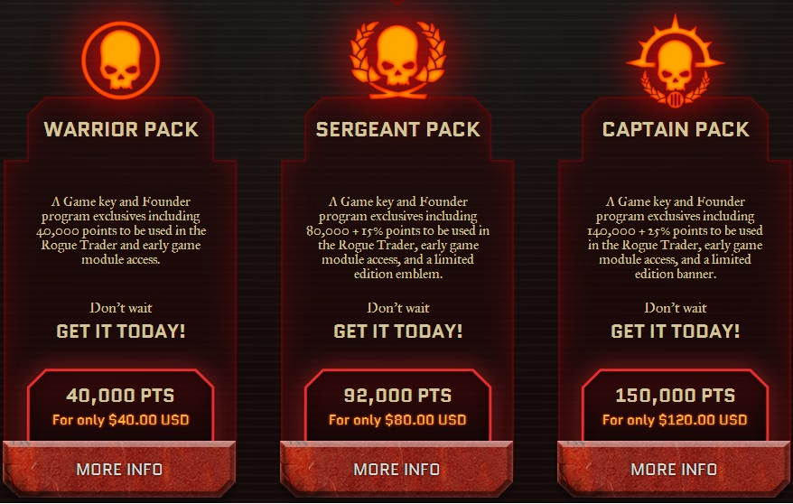 Pack fondateur warhammer 40k 1