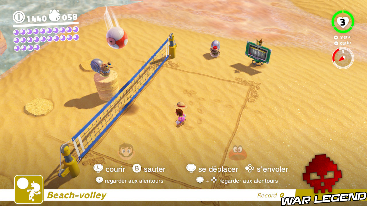 mario joue au beach-volley