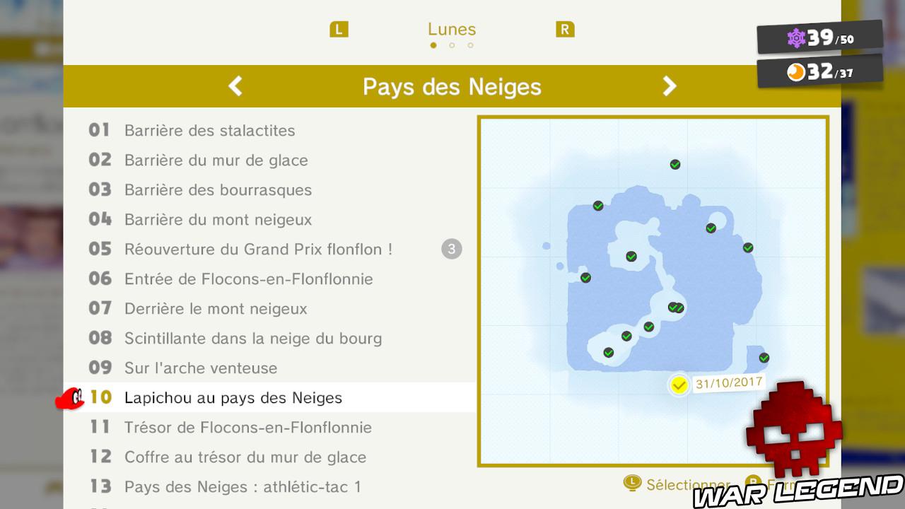 carte montrant où trouver lapichou et sa lune