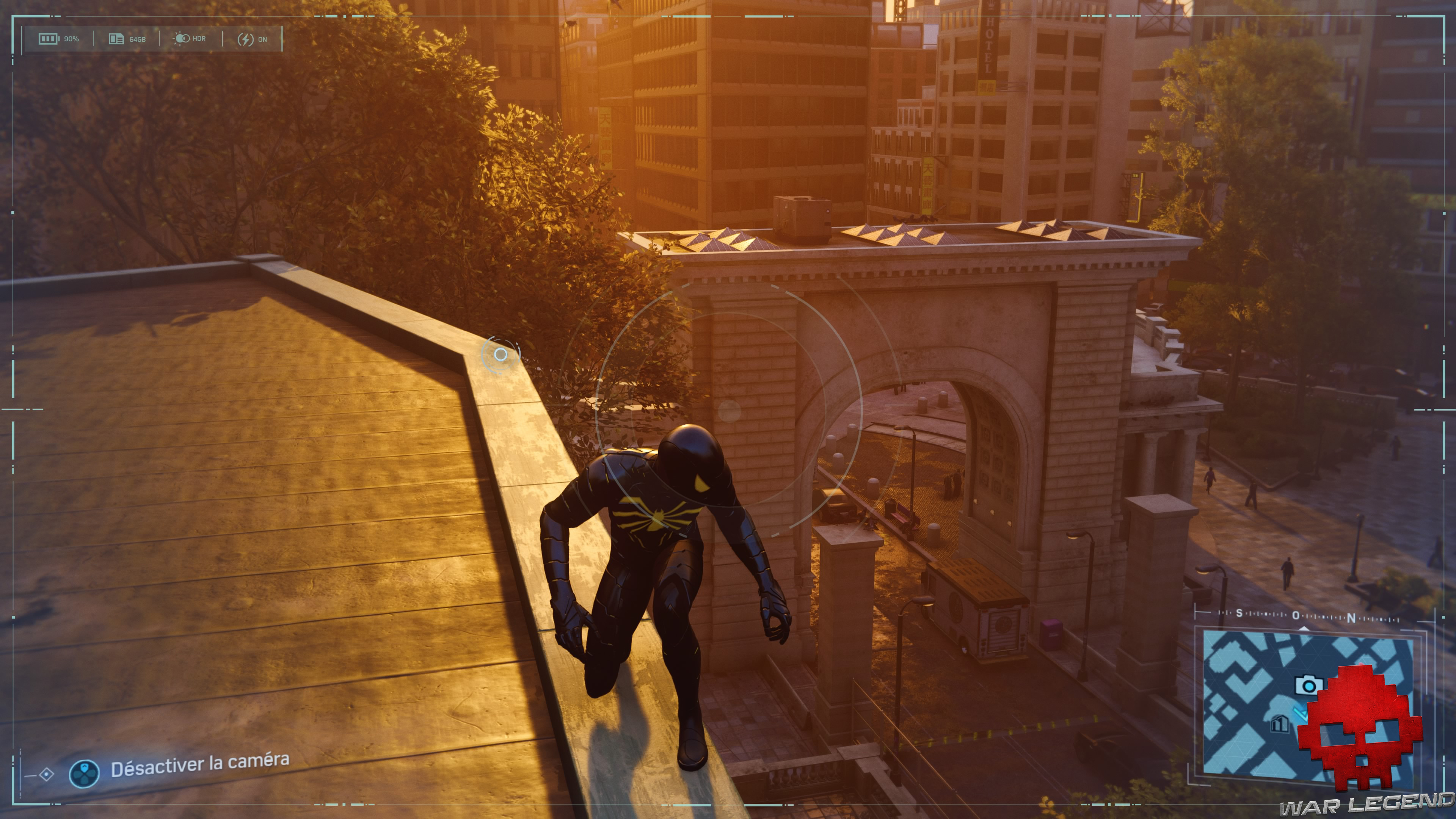 Spider-Man photo secrète arche du pont de Manhattan