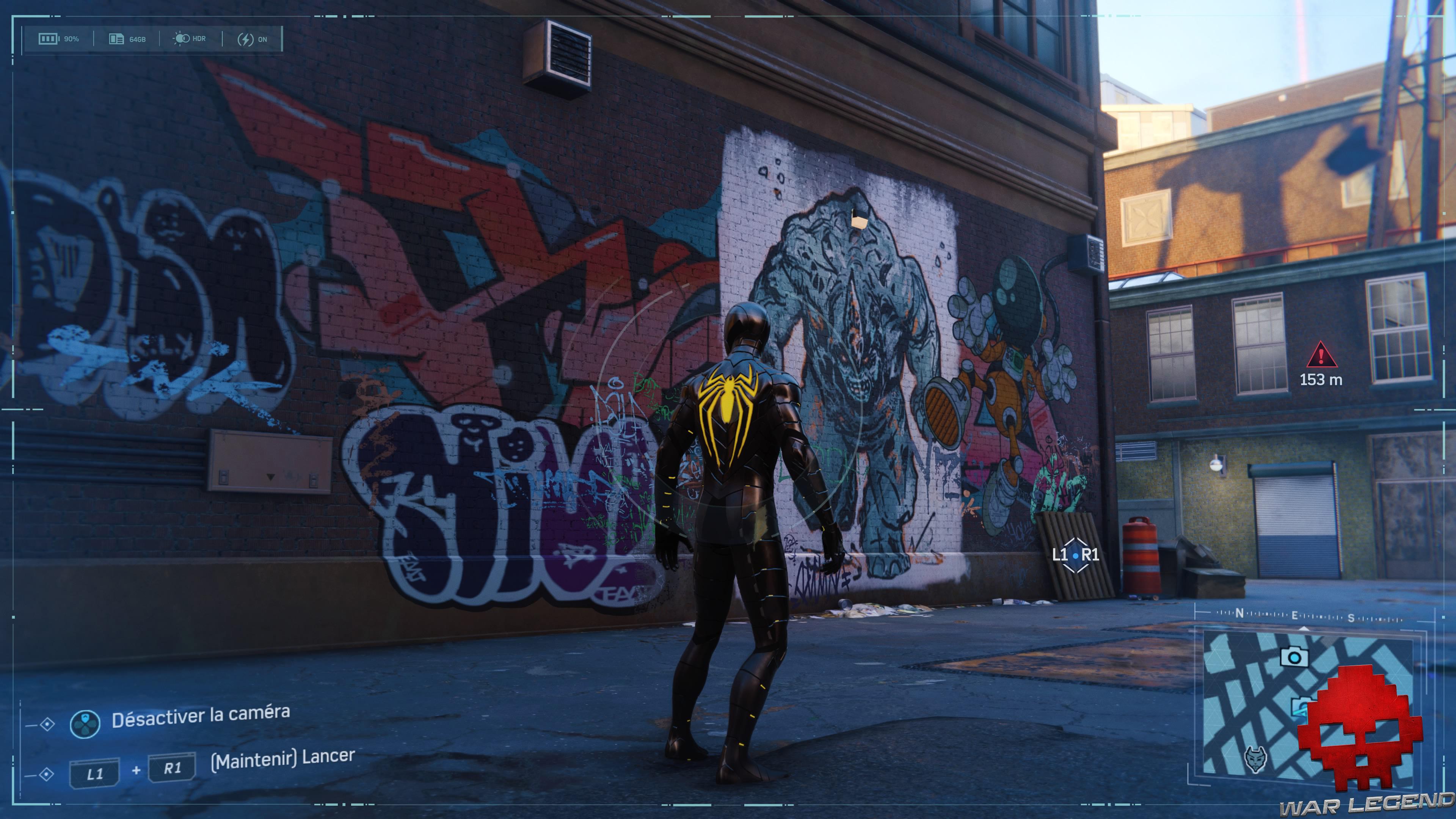 Spider-Man photo secrète Fresque de Rhino